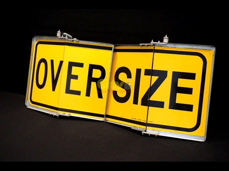 """over size"" signs folding type 436816 009"