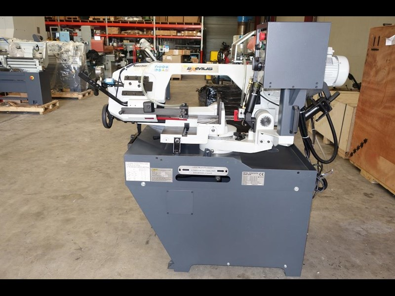 eximus taiwanese manual ø225mm capacity double mitre bandsaw 437508 011