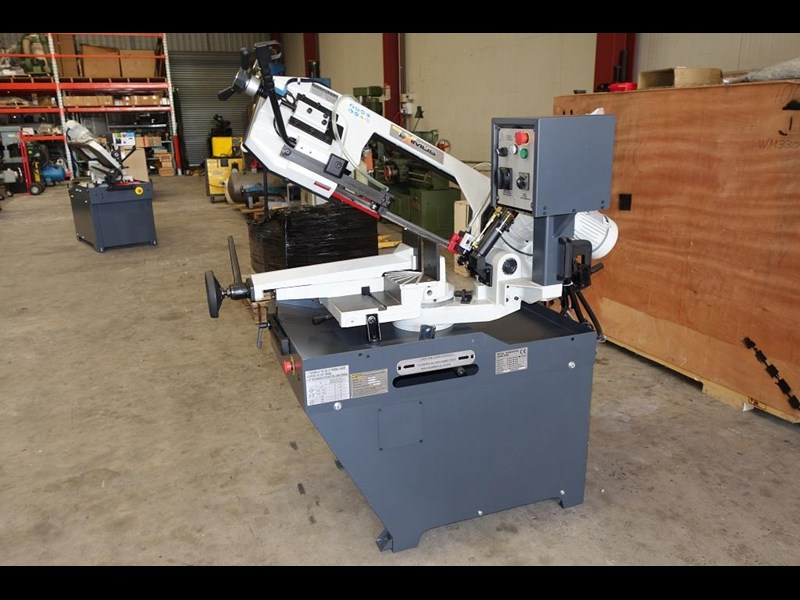 eximus taiwanese manual ø225mm capacity double mitre bandsaw 437508 039