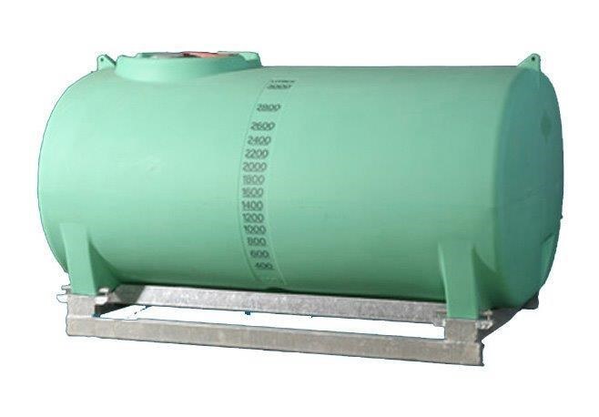 spray tank 3000l pin mount water tank [ptsp03000ktt] with galvanised steel skid [tfwater] 243559 003