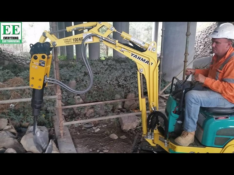 indeco indeco hp150 rock breaker for mini excavators up to 2.5 tonnes 429945 027