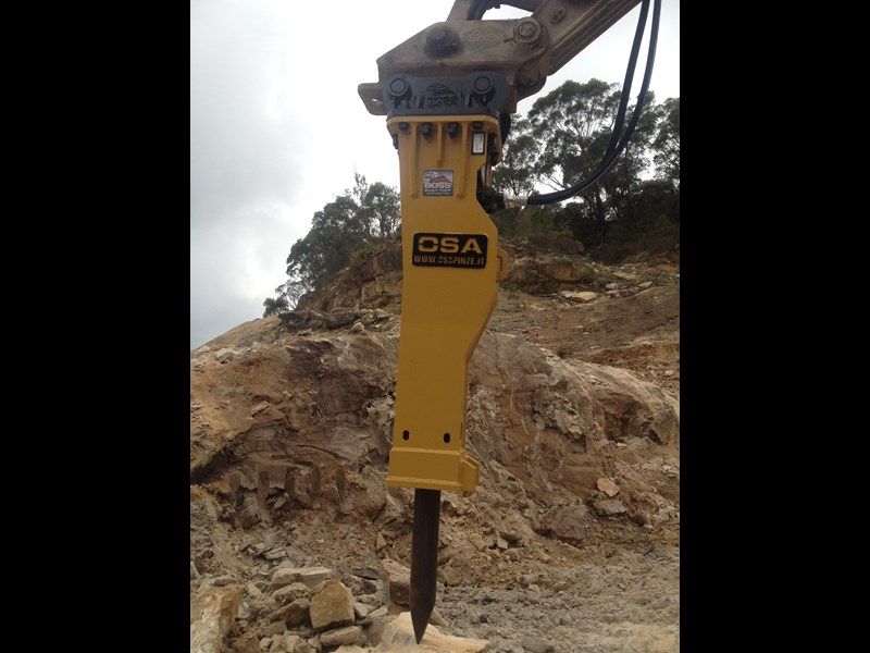 boss attachments new osa hm series hydraulic hammer 3-110 tonne 447084 009