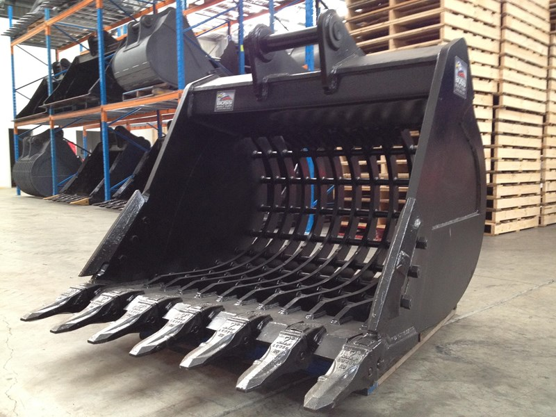 boss attachments boss 20-110 tonne armoured hd rock sieve buckets 449581 013