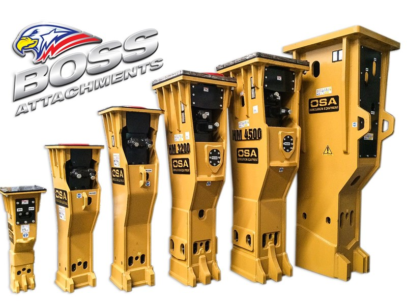 "osa o.s.a hm500 7t-12t excavator rock breakers ""in stock"" 450544 003"