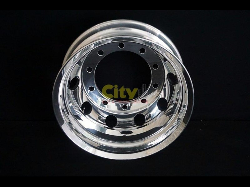 roh 10/335 8.25x22.5 rohdmaster polished alloy drive rim 451300 001