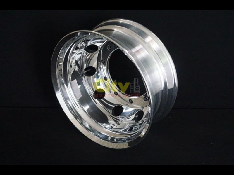 roh 10/335 8.25x22.5 rohdmaster polished alloy drive rim 451300 007
