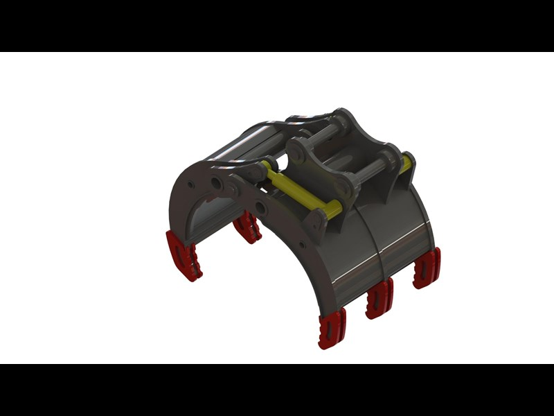 australian bucket supplies hydraulic 5 finger rock grab to suit 12-14t excavators 327695 001