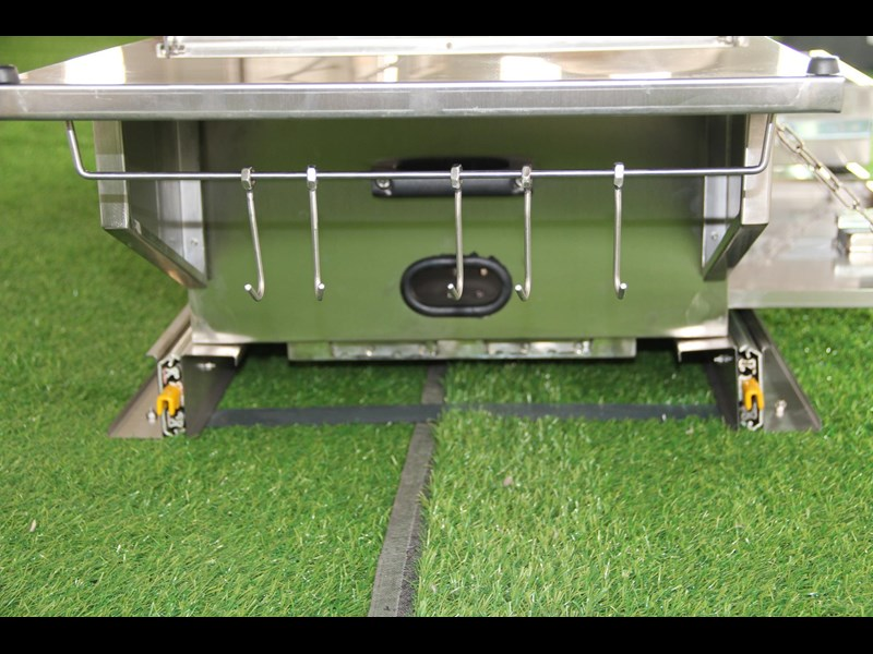 kylin campers stainess steel slide out kitchen 460839 009