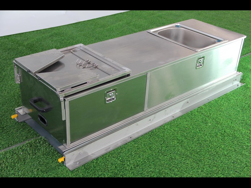 kylin campers stainess steel slide out kitchen 460839 011