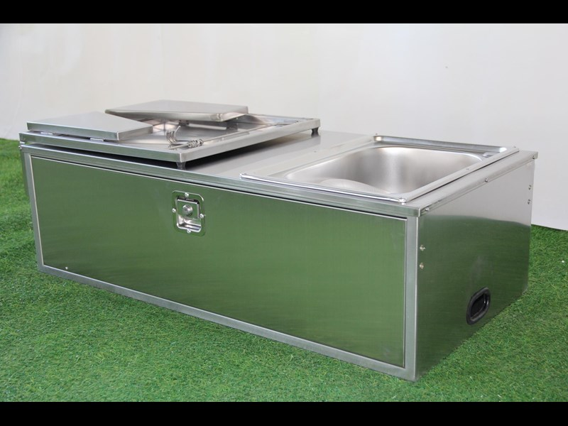 kylin campers stainless steel tailgate kitchen 460842 003