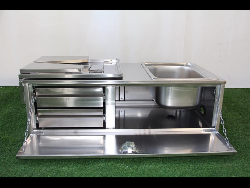 kylin campers stainless steel tailgate kitchen 460842 005