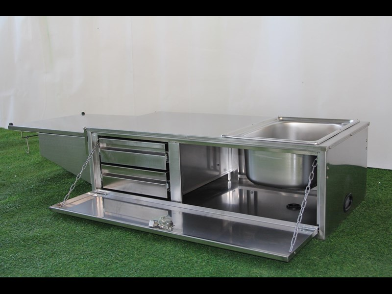 kylin campers stainless steel tailgate kitchen 460842 011
