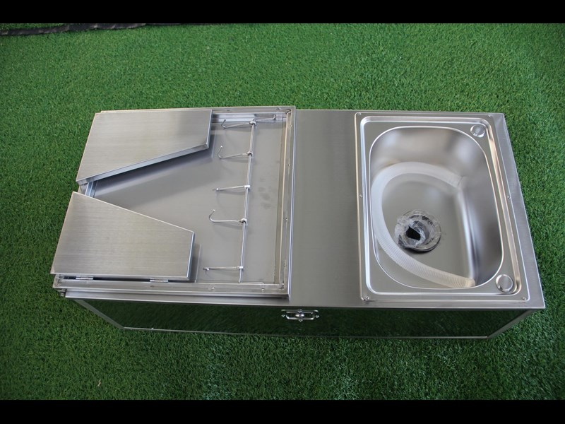 kylin campers stainless steel tailgate kitchen 460842 019