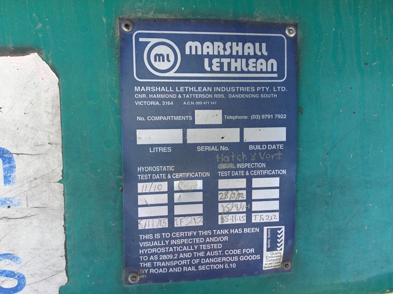 marshall lethlean 19 meter b double set fuel tanker 472477 029