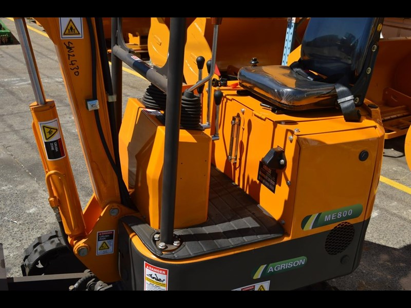 agrison mini excavator free 3x buckets ripper post borer log grabber 474187 015