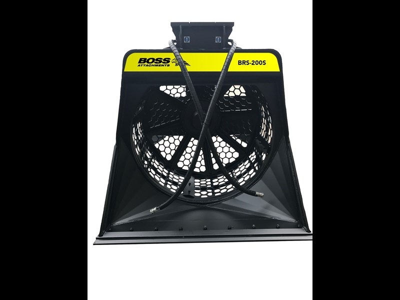 boss attachments brs-120s rotary screening bucket 480011 003