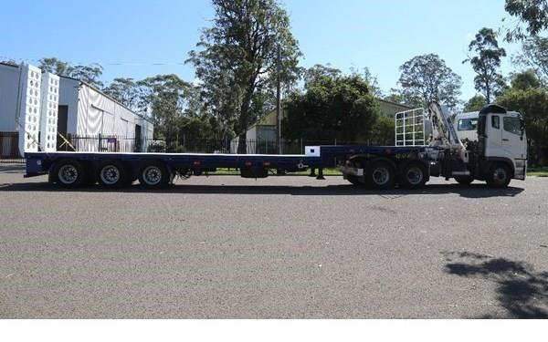 aaa 45' extendable drop deck without bi-fold ramps 505237 007