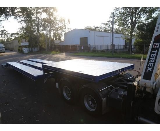 aaa 45' drop deck widener 2.5-3.5m with ramps & spring suspension 505238 015
