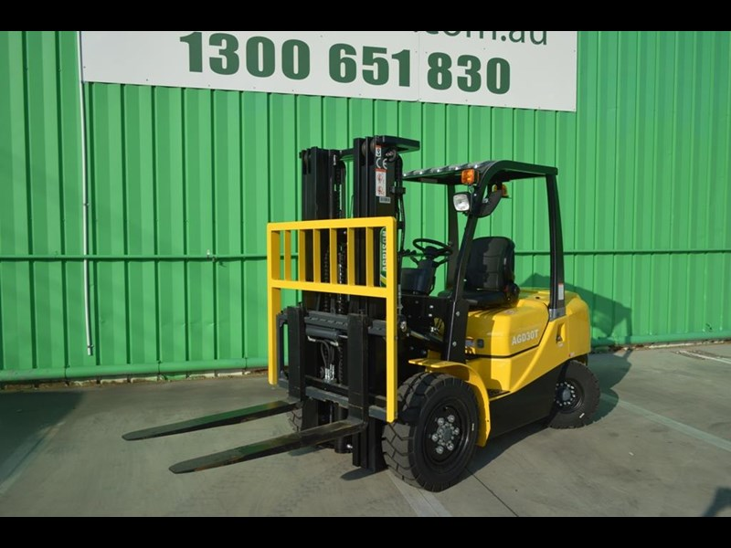 agrison 3 tonne forklift - 3 stage cont. mast - nationwide delivery 505653 013