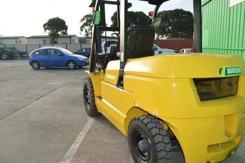 agrison 5 tonne forklift - 3 stage cont. mast - nationwide delivery 505661 025