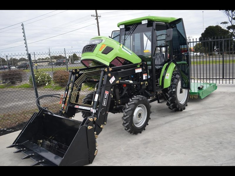 agrison 40hp cdf cabin + 6ft slasher + fel + 4 in 1 bucket 508940 035