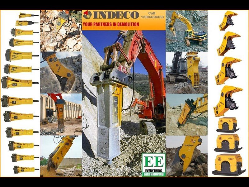 indeco hp200 whisper rock breaker from everything earthmoving 356955 083