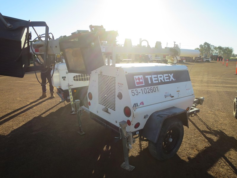 terex al4 trailer mounted lighting tower 518323 007