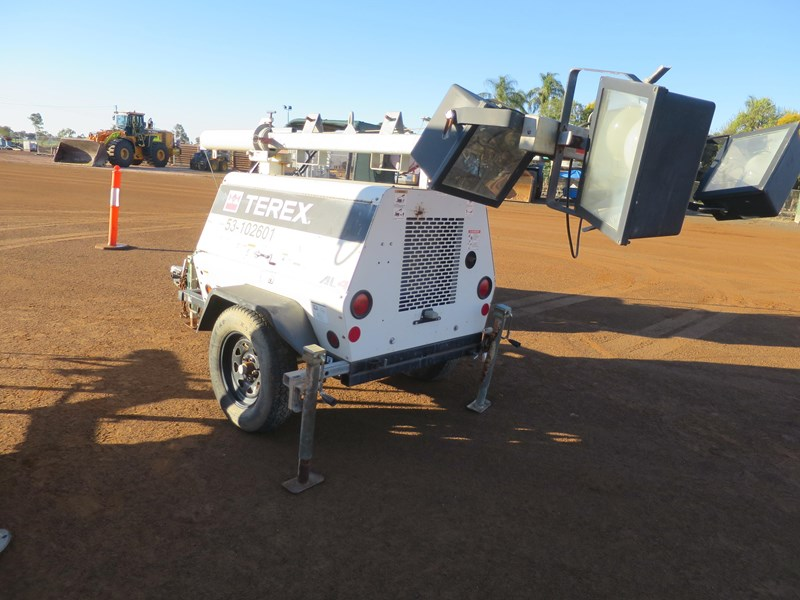 terex al4 trailer mounted lighting tower 518323 001