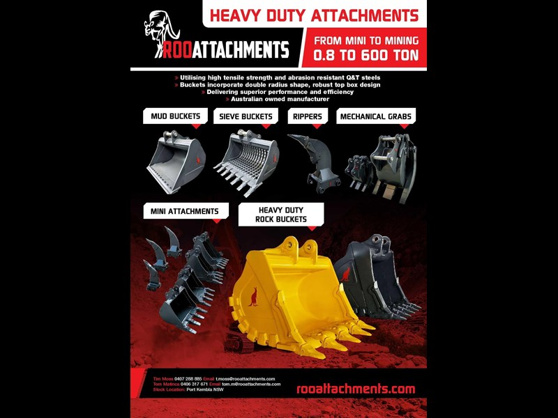 roo attachments tilting bucket - 10 to 14 ton 519475 005