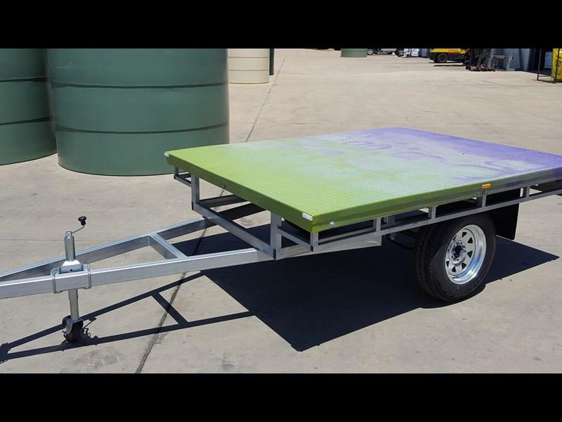 Flat Deck Trailer >> Polymate 8x6 Flat Deck Trailer For Sale