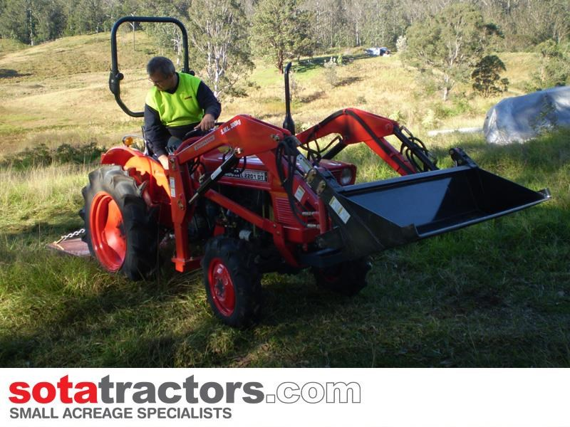 kubota l2201dt tractor with 4 in 1 fel 25hp 55505 027