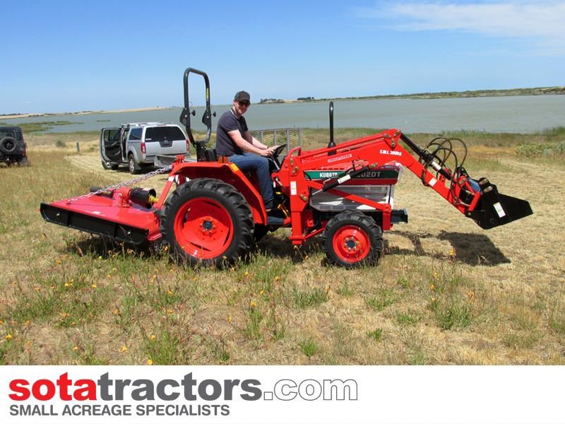 kubota l2202dt tractor with 4 in 1 fel 26hp 57402 009