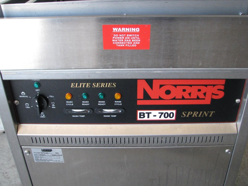 norris bt-700 commercial kitchen pass through dishwasher 581560 005