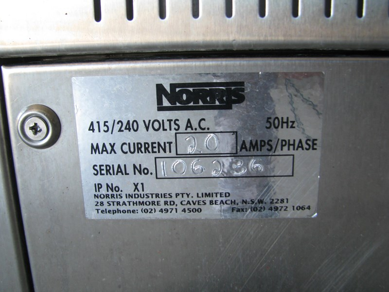 norris bt-700 commercial kitchen pass through dishwasher 581560 011