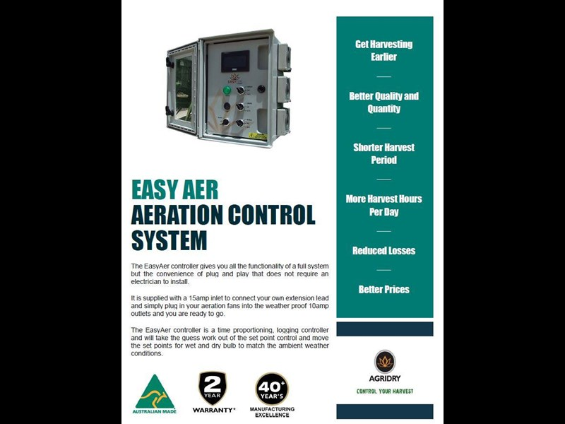 agridry easyaer mobile silo aeration fan controller - new 577026 007