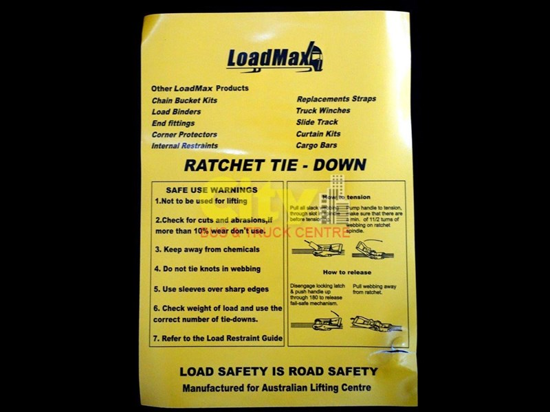 loadmax 'ergo' reverse action ratchet tie downs 592654 011