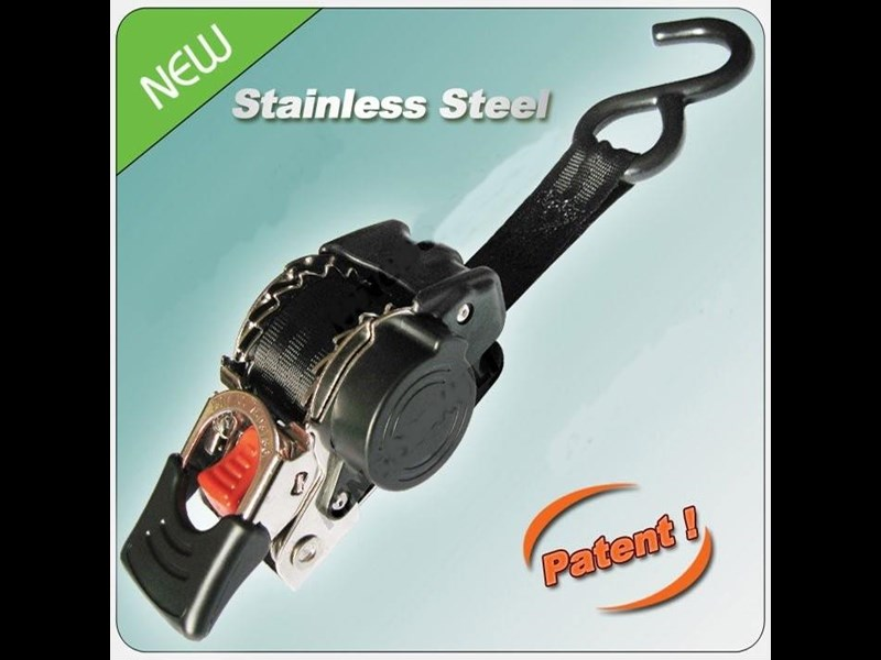 stainless steel retractable ratchet tie-down strap 610375 001