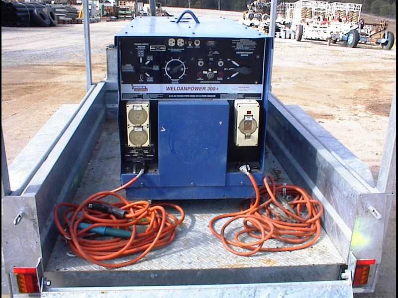 lincoln weldanpower 300+ welder/generator 607260 021