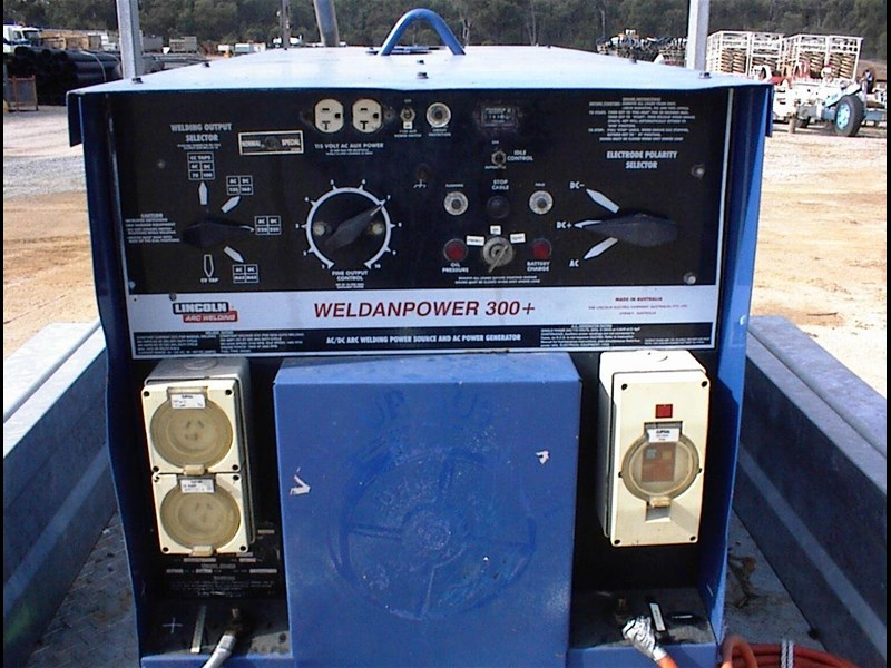 lincoln weldanpower 300+ welder/generator 607260 023