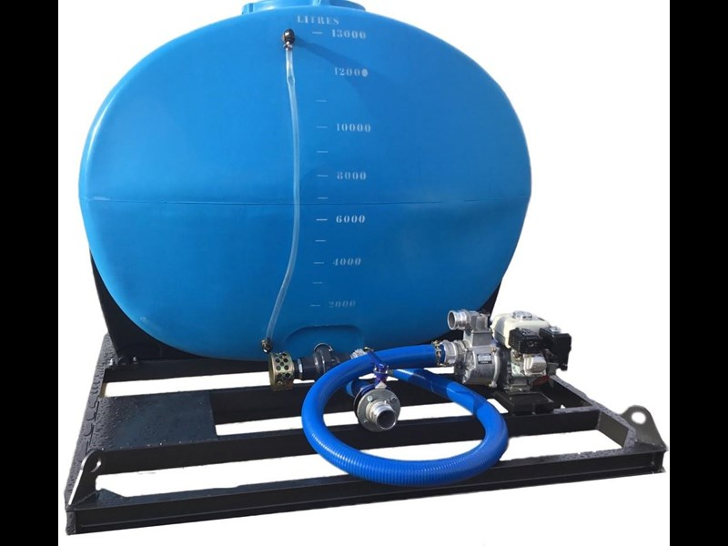 13,000l cartage tank with frame and pump heavy duty 1.3sg 609197 003