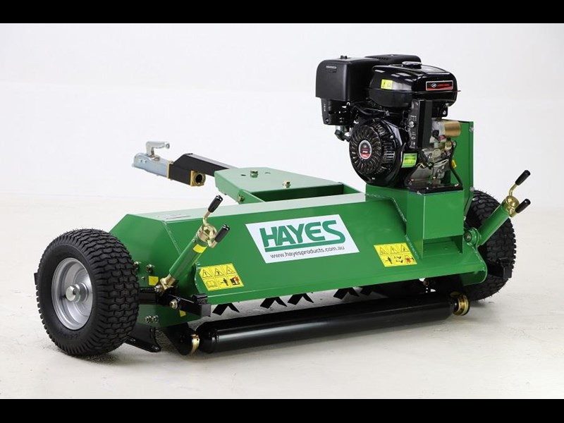 HAYES TOW BEHIND ATV FLAIL MULCHER MOWER 15HP ENGINE (QUAD