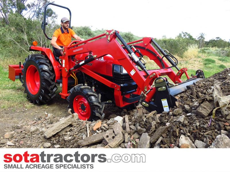 kubota l3408dt tractor + 4 in 1 loader + backhoe 646110 015