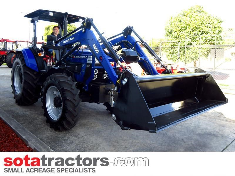 farmtrac 87hp tractor + 4 in 1 loader + backhoe 646189 009