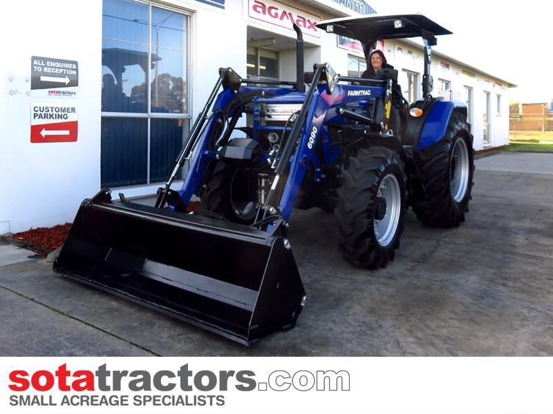 farmtrac 87hp tractor + 4 in 1 loader + backhoe 646189 011