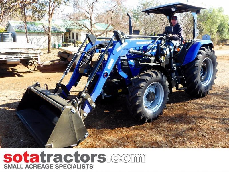 farmtrac 87hp tractor + 4 in 1 loader + backhoe 646189 017
