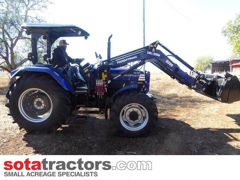 farmtrac 87hp tractor + 4 in 1 loader + backhoe 646189 035