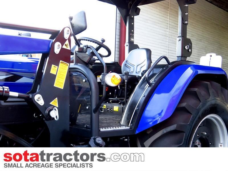 farmtrac 87hp tractor + 4 in 1 loader + backhoe 646189 041