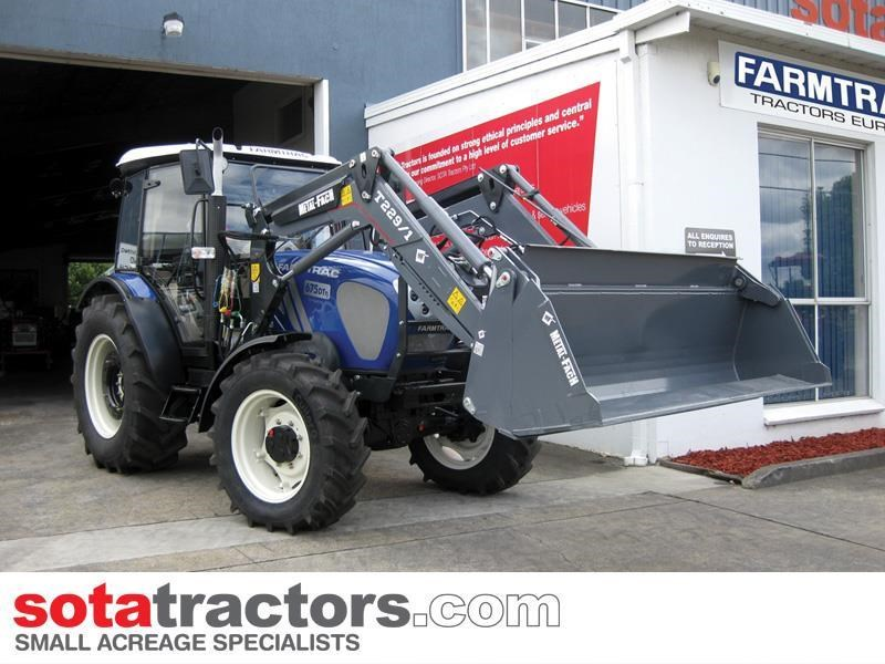 farmtrac 75hp cab tractor + 4 in 1 loader + backhoe 646202 007