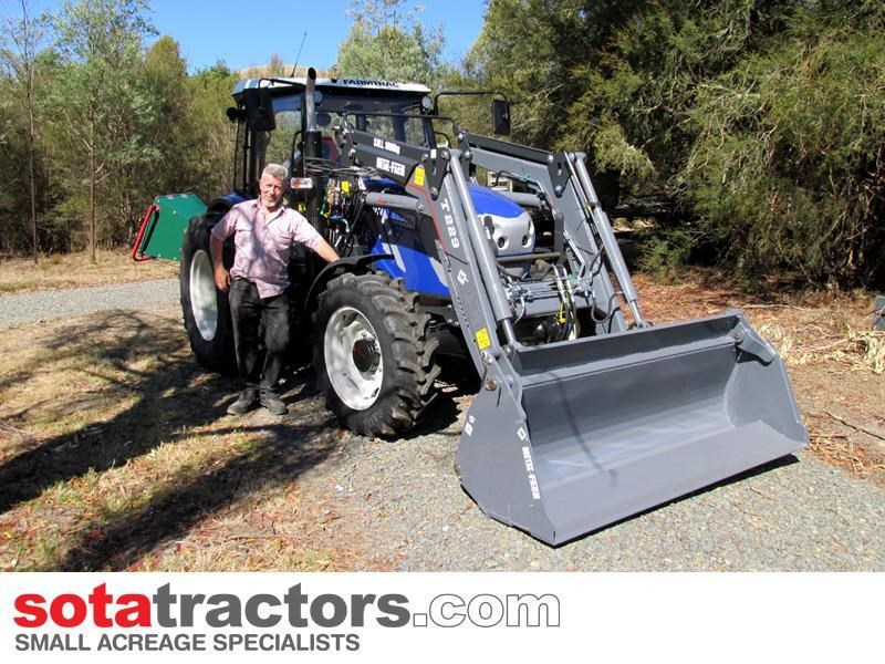 farmtrac 90hp cab tractor + 4 in 1 loader + backhoe 646220 003