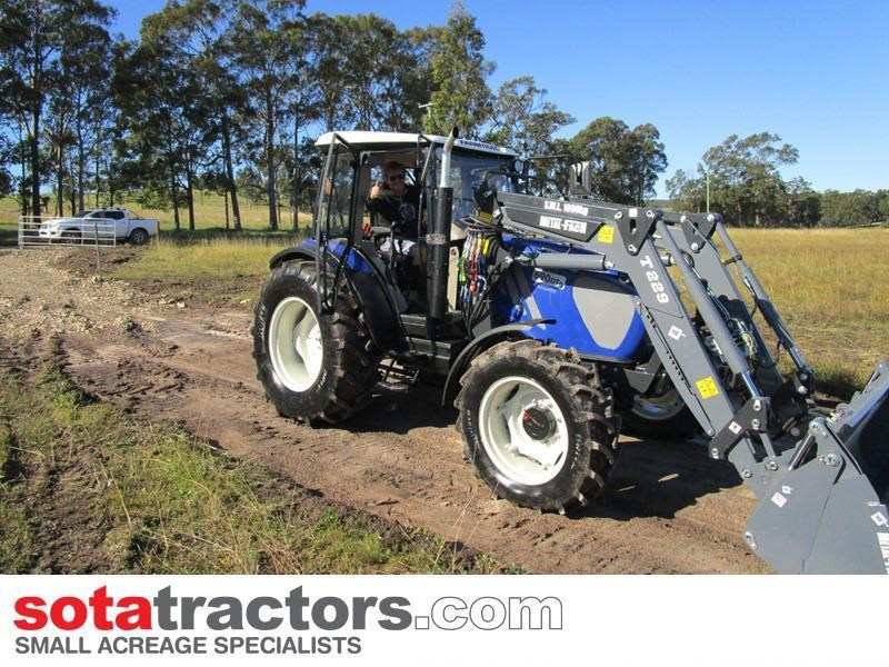 farmtrac 90hp cab tractor + 4 in 1 loader + backhoe 646212 007